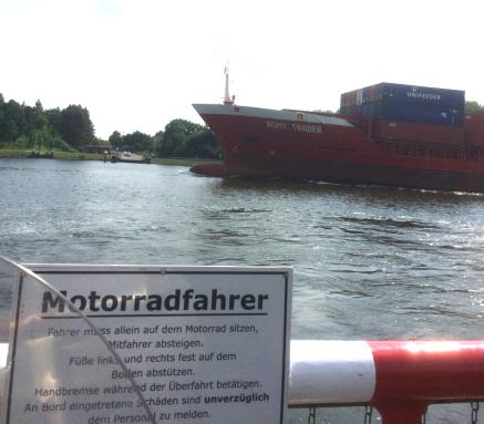 Fähre über den NO-Kanal in Sehestedt
