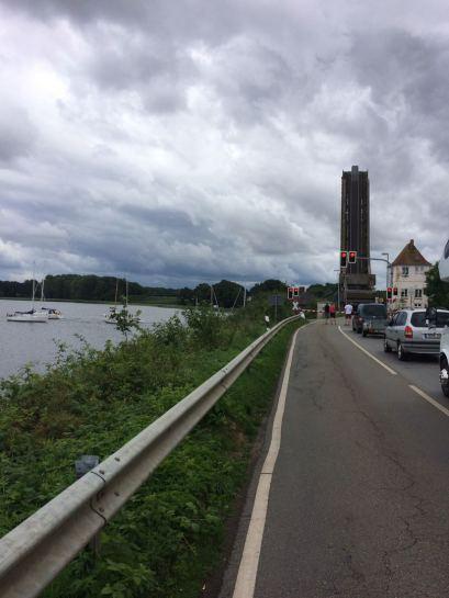 Klappbrücke bei Lindaunis